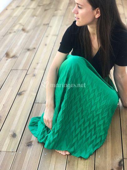 Jupe longue plissée