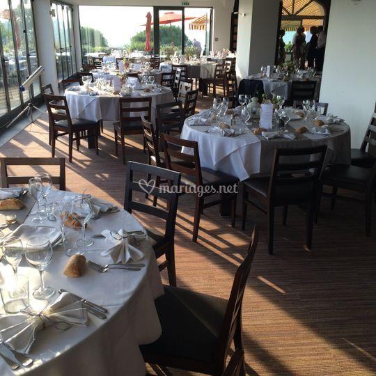 Restaurant makila golf for Table salle a diner