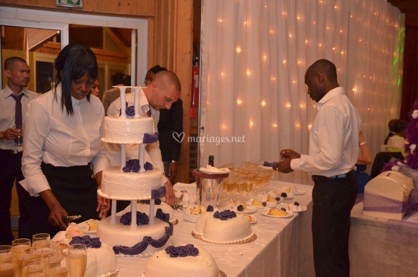 Service du gâteau