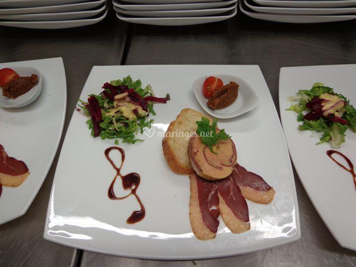 Foie gras, canette