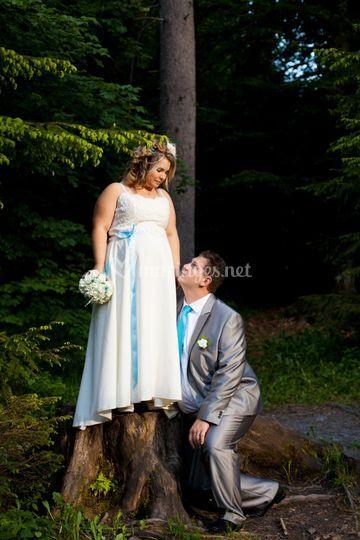 Séance couple au lac vert