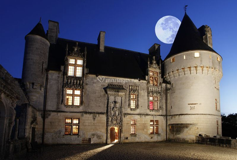 Le château vue de nuit