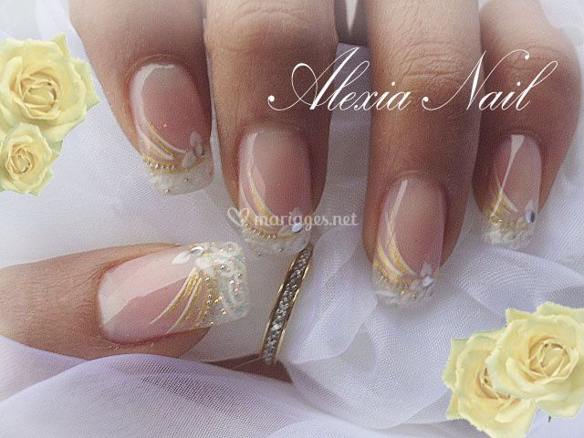 pose d 39 ongles pour mariage de alexia nail altitude photo 1. Black Bedroom Furniture Sets. Home Design Ideas