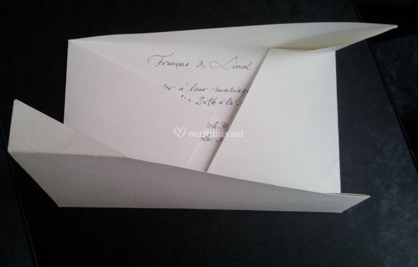 Faire-part enveloppe-lettre