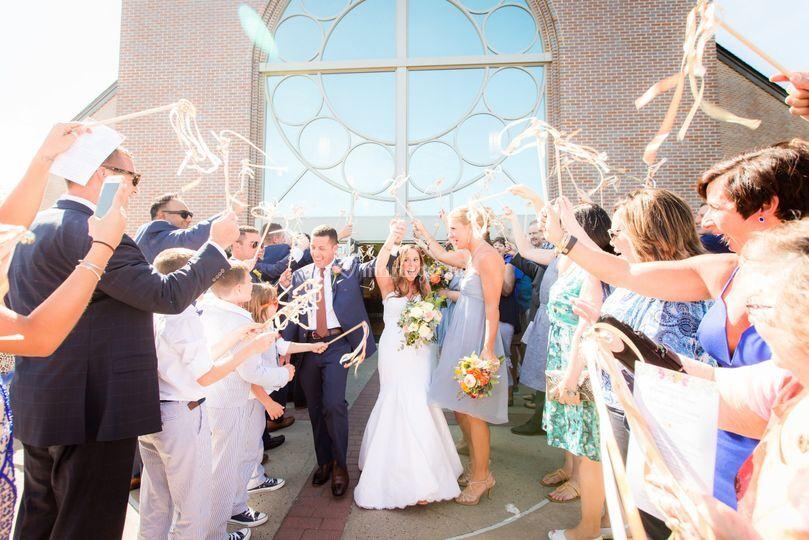 Sortie de cérémonie des mariés