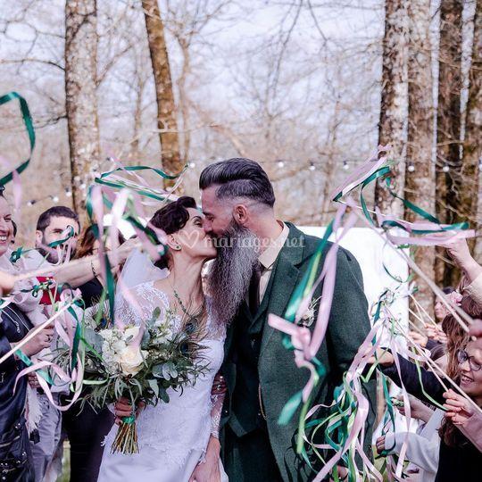 Haie d'honneur des mariés