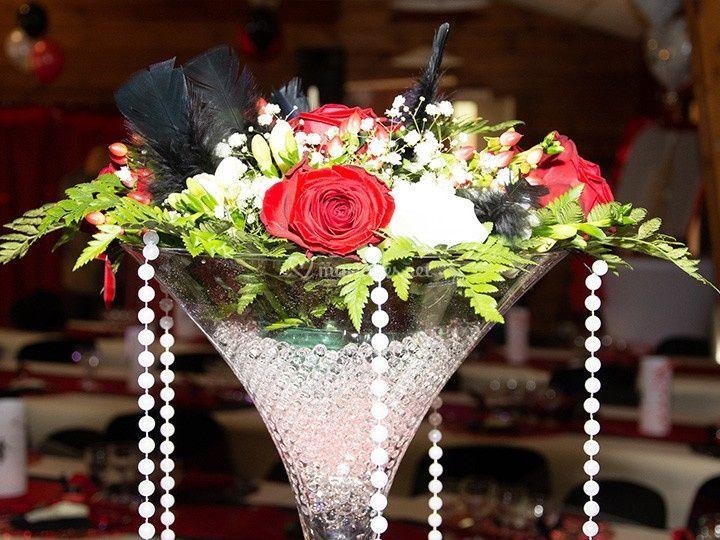Vase Martini + Art Floral