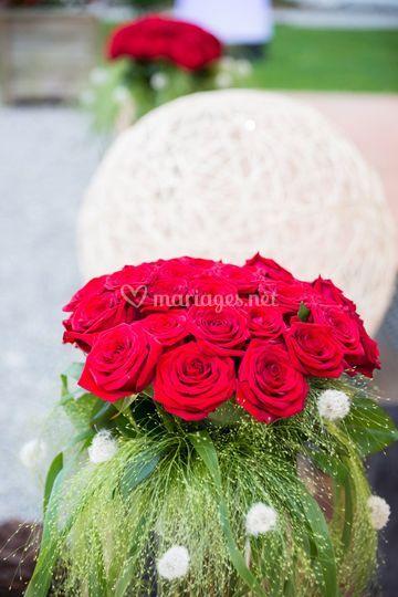 Décoration florale extérieure