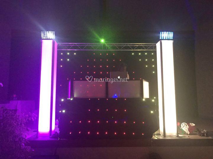Eclairage rideau à LED