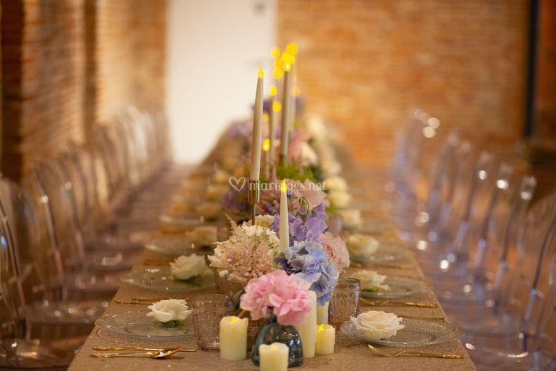 Les Fleurs De Mademoiselle Table Fleurie Couleur Pastel