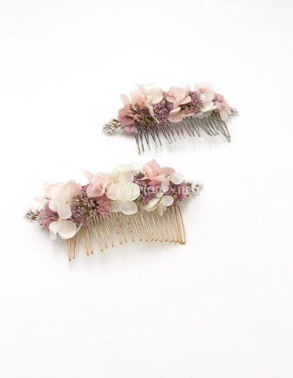 Peignes Lilla en fleurs séchée