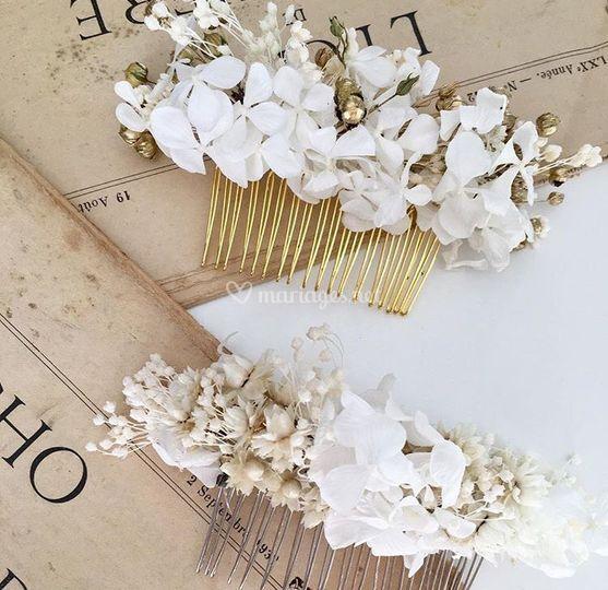 Peignes Fleurs Stabilisées