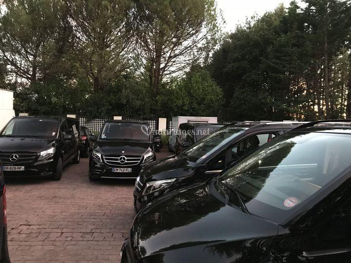 Flotte de plusieurs véhicules