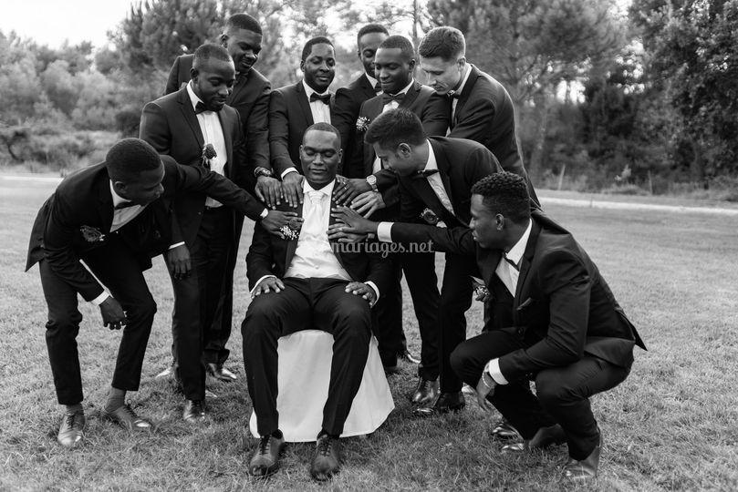 Photo de groupe hommes