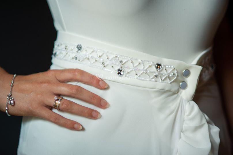 Broderie robe de mariée
