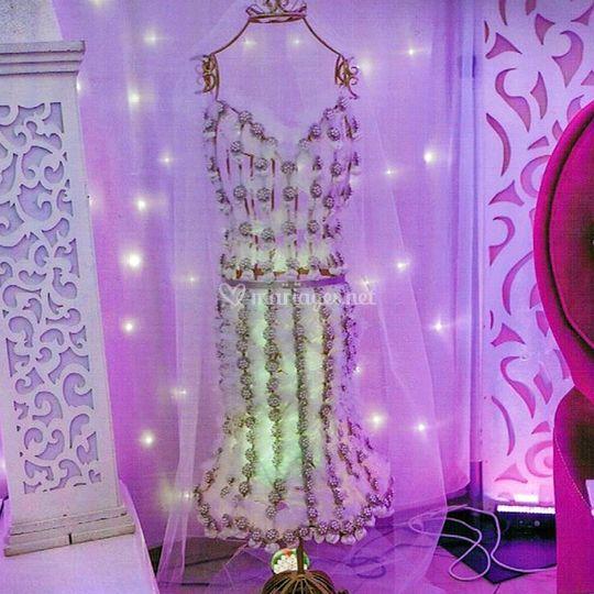 Support dragée robe de mariée