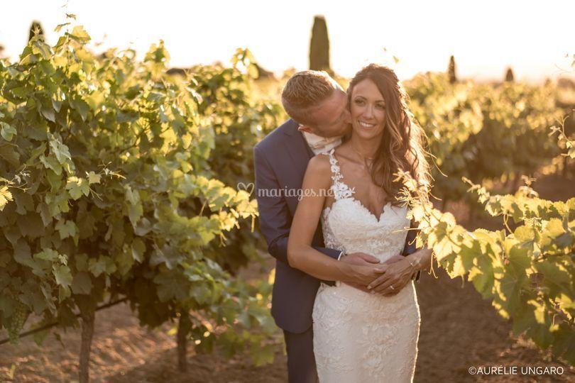 Nos mariés au cœur des vignes