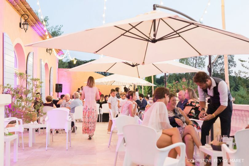 Cocktail dînatoire en terrasse