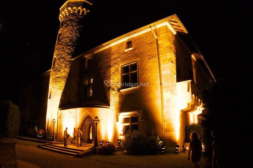 Éclairage architectural château