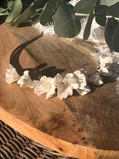 Couronne Fleurs Blanches