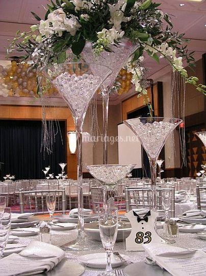 Vase martini en location