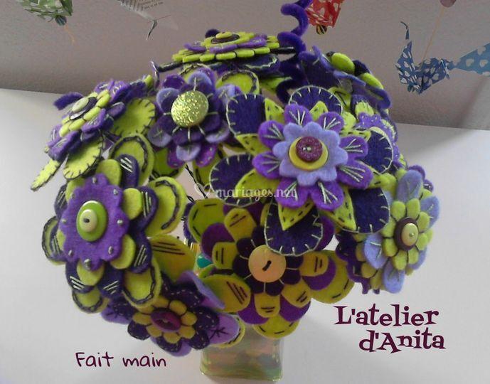 Vert anis et le violet