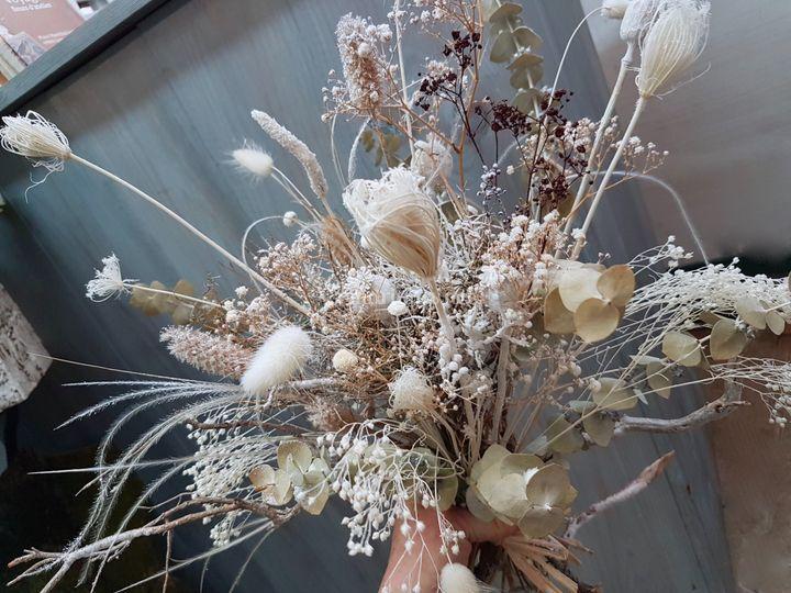 Bouquet de mariée sec