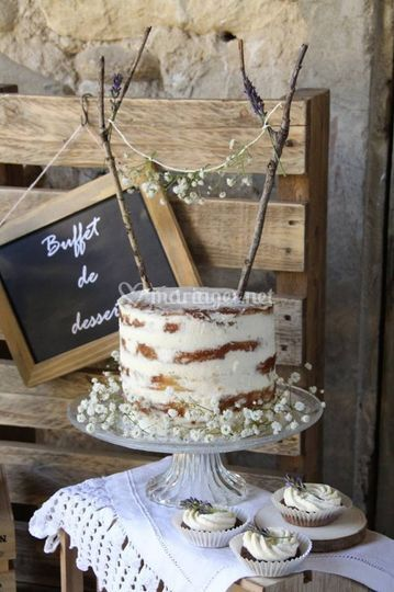Naked cake rustique