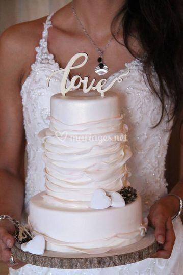 Wedding cake rustique