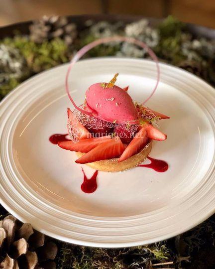 Sablé fraise framboise