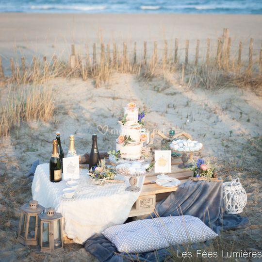 Une sweet table en extérieur