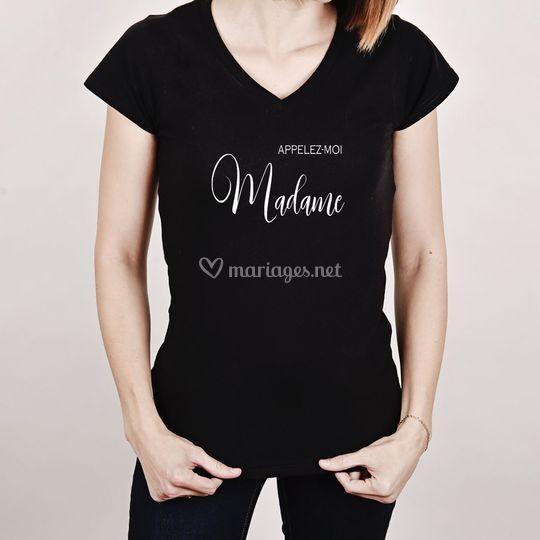 "Tee-shirt femme ""Madame"""