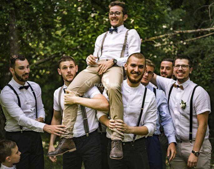 Le marié et son crew