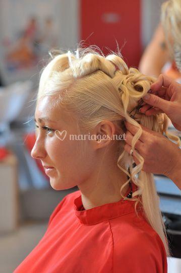 Préparatifs coiffure