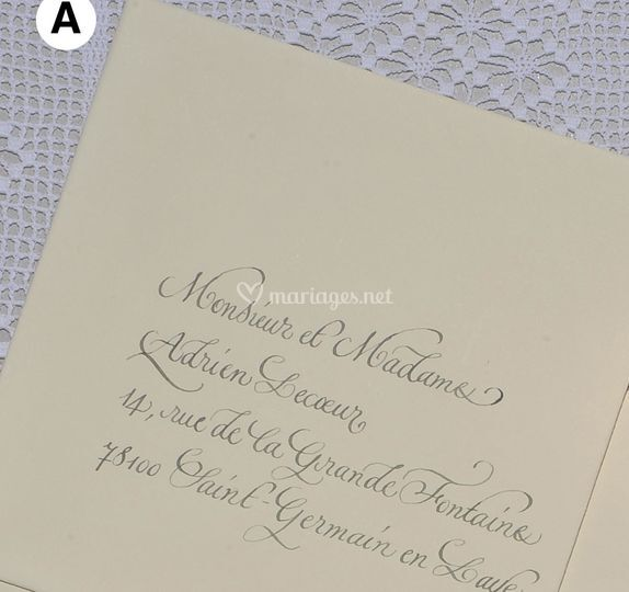 Enveloppes calligraphiées