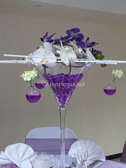 Déco duo d'orchidées