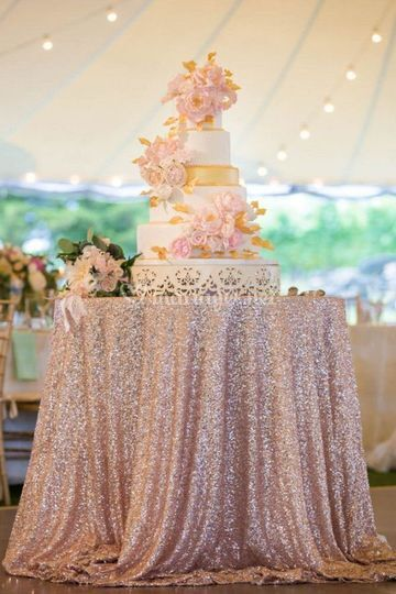Nappe sequin champagne