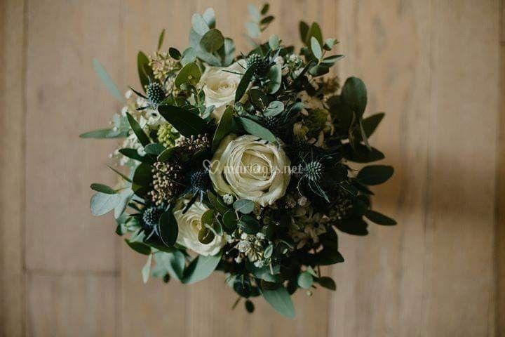 Bouquet de marié végétal