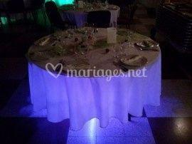 Illumination sous table