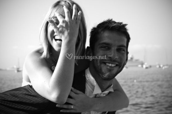 Couple plage de Villefranche sur Mer