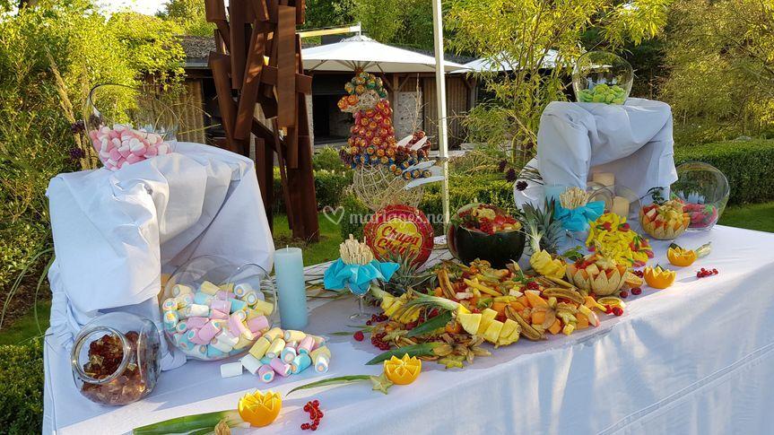 Candy bar et bar à fruits