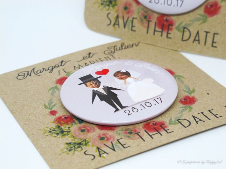Save The Date - M&J - Badge