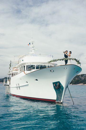 Nadia Fry Yacht Wedding
