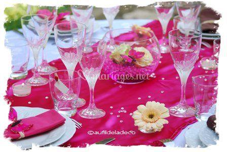 Deco table Fuschia