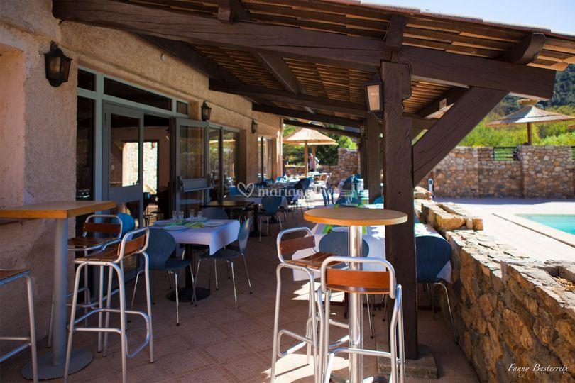1 des terrasses du  restaurant
