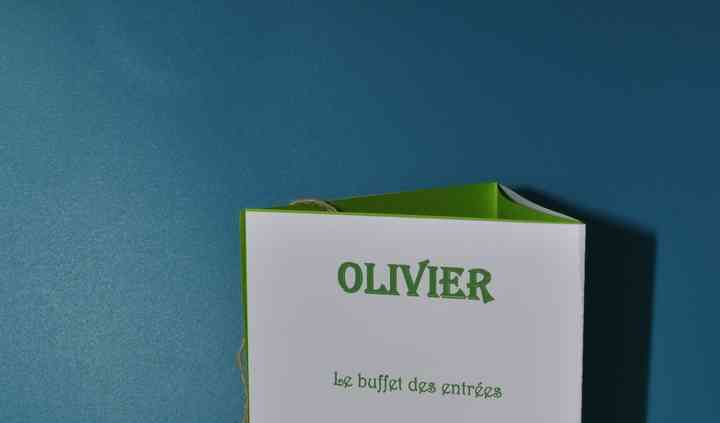 Menu triangle olivier