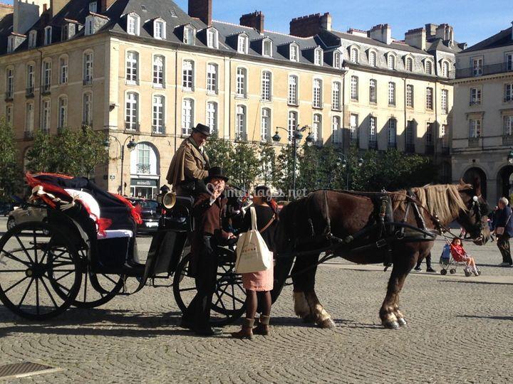 Rennes, parvis de la Mairie