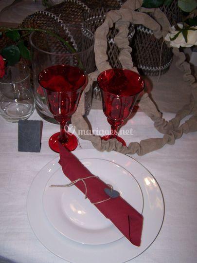 Décoration Table rouge