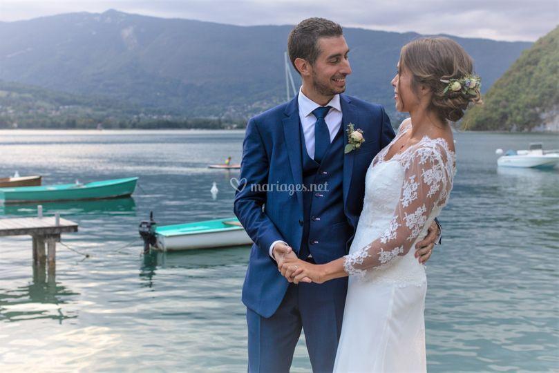 Romantisme au lac d'Annecy