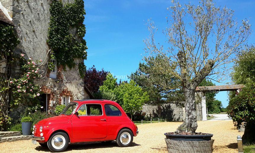 Fiat 500 en location sur site